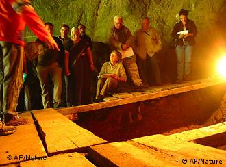 This Aug. 2005 photo provided by the journal Nature depicts the Denisova cave