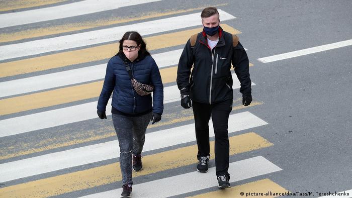 Жители Москвы во время пандемии коронавируса