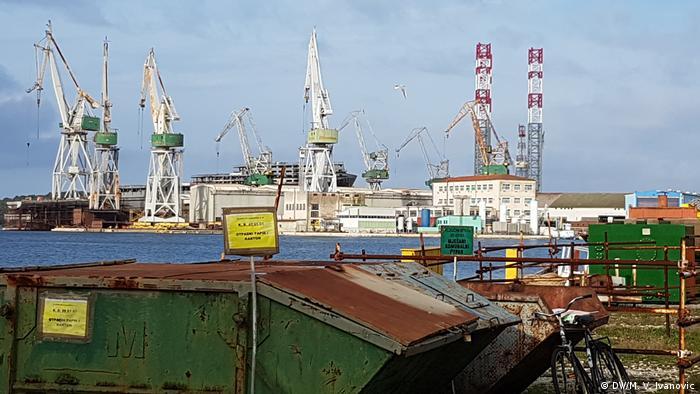 Kroatien Pula Werft Schiffsbau Industrie