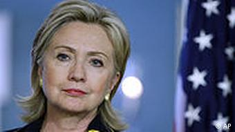 USA Außenministerin Hillary Rodham Clinton in Washington