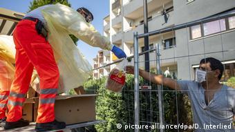 Доставка еды работникам Tönnies, соблюдающим самоизоляцию