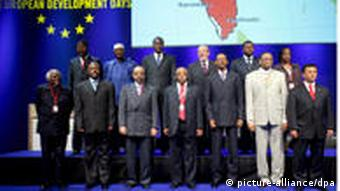 Image of African leaders at the European Development Days in Brussels.