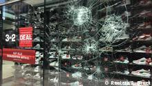 Deutschland Stuttgart Unruhen Vandalismus