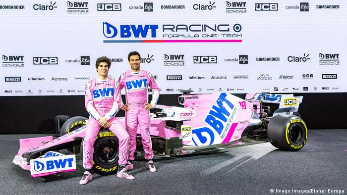 Racing Point drivers Sergio Perez and Lance Stroll (Imago Images/Eibner Europa)