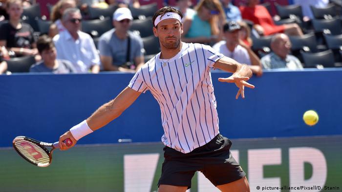Григор Дімітров під час турніру в Задарі