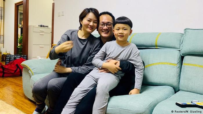 Menschenrechtsanwalt Wang Quanzhang und Li Wenzu (Reuters/W. Qiaoling)
