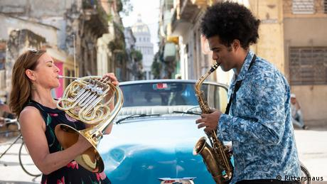British hornist Sarah Willis and Cuban Soaxophone player Yuniet Lombida
