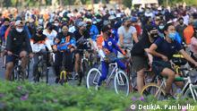 Indonesien Coronavirus autofreier Sonntag in Jakarta