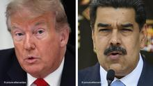 Bildkombo Donald Trump und Nicolas Maduro