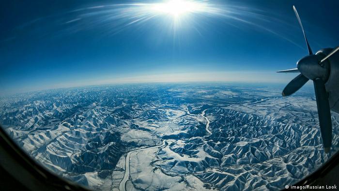 Verkhoyansk vista do céu