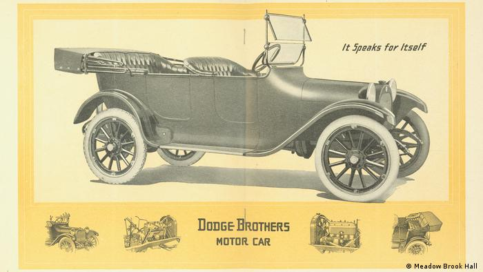 A Dodge Brothers Motor Car advertisement with the phrase 'It Speaks for Itself' from 1914, the first year of production - Meadow Brook Hall