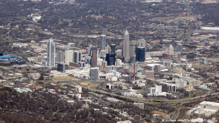 Aerial view of Charlotte, North Carolina