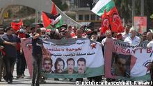 Palästina Westjordanland Proteste Annexionspläne Israel