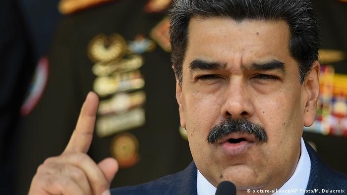 Глава Венесуэлы Николас Мадуро во дворце Мирафлорес в Каракасе