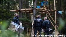 Deutschland Polizeieinsatz im Hambacher Forst