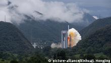 China Raketenstart letzter BeiDou Satellit