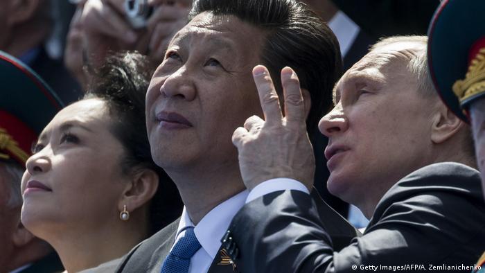 Russland Moskau Siegesparade 2015 Xi Jinping