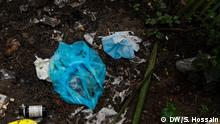 Title: Coronavirus waste polluting Bangladesh Description: Mask, Glaves, PPE and various medical waste creating pollution in Dhaka, Bangladesh. Tag: Bangladesh, Dhaka, Coronavirus, Medical, Waste, Pollution Copyright: Sazzad Hossain