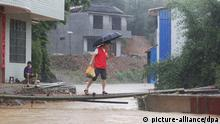 10.06.2020, Liuzhou: Starting on May 30, downpours have swept most places of the region, which has issued an orange flood alert, the second-highest level, Rong'an county of Liuzhou city, south China's Guangxi provine, 10 June 2020. Foto: Stringer/HPIC/dpa |