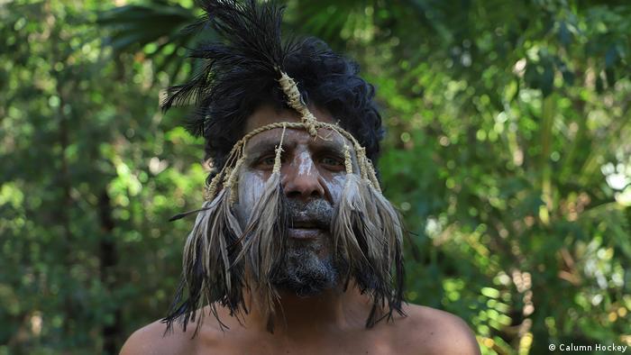 Local aboriginal man protesting in Nambucca forest in Australia