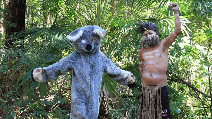 Abholzungsgegner, Nambucca Wald, New South Wales, Australien