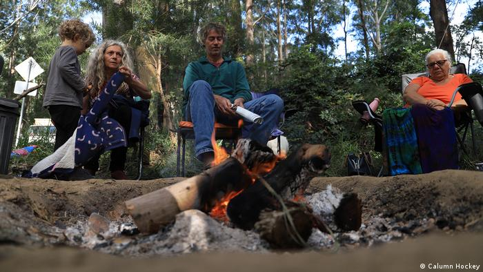 Anti-logging activists, Nambucca Forest, New South Wales, Australia