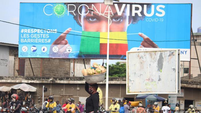 Sensibilisation contre le coronavirus à Cotonou