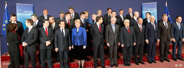 EU heads of state at an EU summit in Brussels, March 25, 2010