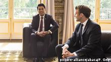 ARCHIV 2019 *** French President Emmanuel Macron meets Madagascar President Andry Rajoelina at The Elysee Palace in Paris, France on May 29, 2019. Photo by Patrick Gely/Pool/ABACAPRESS.COM |