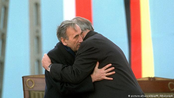 Tadeusz Mazowiecki i Helmut Kohl w Krzyżowej
