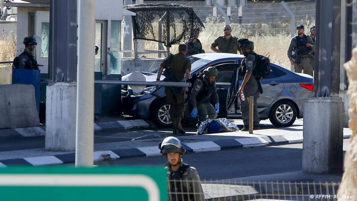 Westjordanland Anschlag auf israelischen Kontrollposten (AFP/M. Al Shaer)