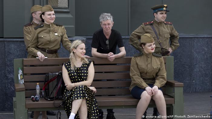 Russland Militärparade (picture-alliance/AP Photo/A. Zemlianichenko)
