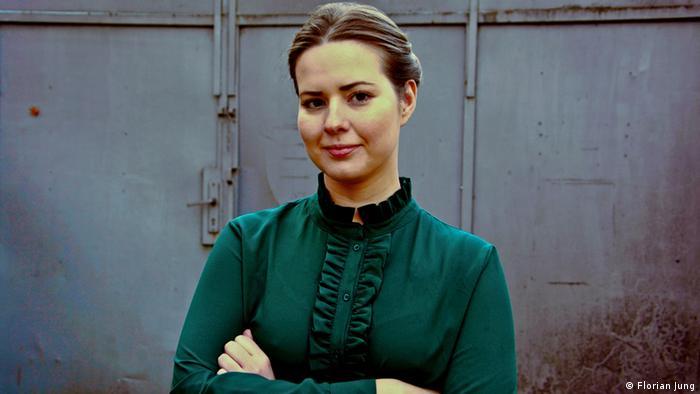 Die Kuratorin des Festivals POSTWEST Alina Aleshchenko (Florian Jung)