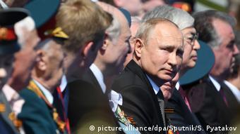 Владимир Путин на параде 24 июня