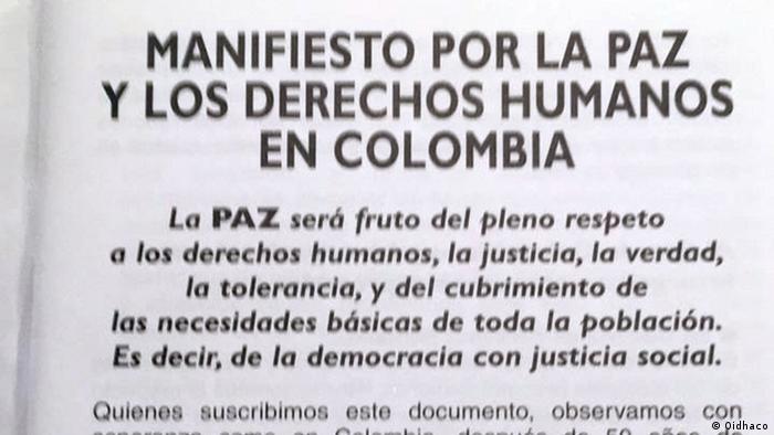 Oidhaco Menschenrechte Kolumbien (Oidhaco)