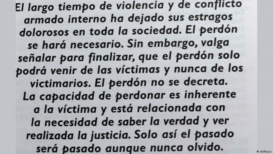 Oidhaco Menschenrechte Kolumbien