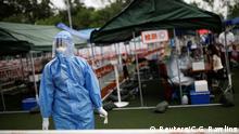 China Peking   Coronavirus   Testzentrum