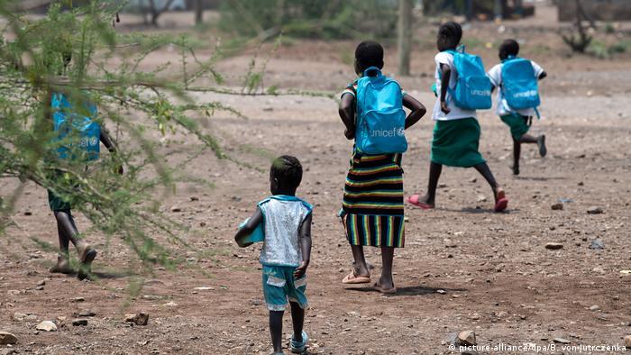 Niños refugiados en Kakuma, Kenia.