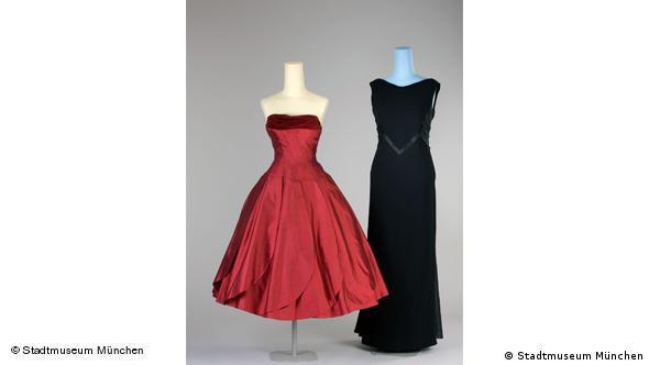 Слева - платье-коктейль, ок. 1955 г. Справа - вечернее платье, 1962 г.