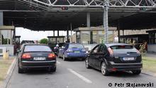Grenzübergang Bogorodica zwischen Nordmazedonien und Griechenland