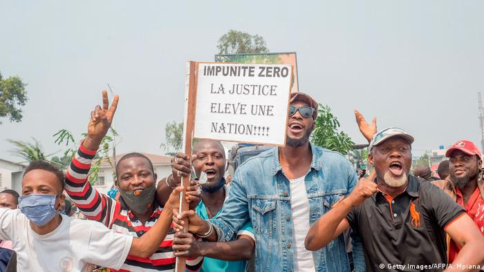 DR Kongo Kinshasa | Protest & Demonstration (Getty Images/AFP/A. Mpiana)