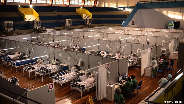 Brasilien Santo André | Coronavirus | Feldkrankenhaus (DW/G. Basso)