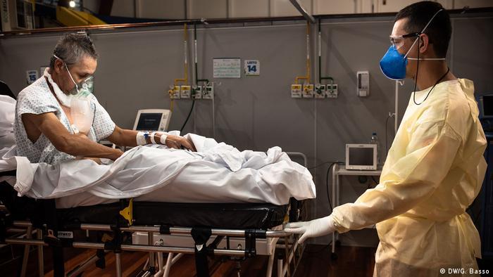 Hospital de campanha contra covid-19 em Santo André