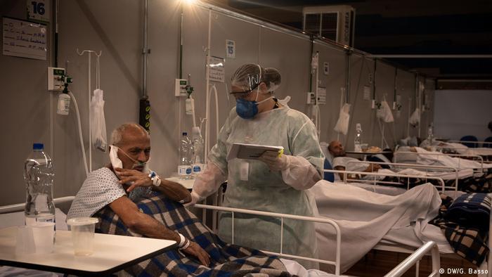 Hospital de campanha em Santo André