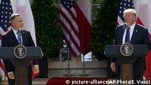 US-Präsident emfängt Polens Präsidenten Duda