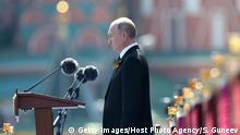 Russland Wladimir Putin hält eine Rede auf dem Roten Platz