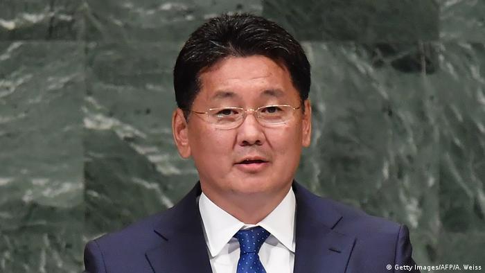 Der Ministerpräsident der Mongolei, Ukhnaa Khurelsukh (Foto: Getty Images/AFP/A. Weiss)
