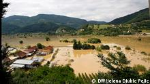 Lucani. 24.06.2020. View of the flooded area in the municipality of Lucani. Western Serbia has been hit hard by floods in recent days.