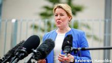 German Family Minister, Franziska Giffey, speaks during a news conference after cabinet meeting, as the spread of the coronavirus disease (COVID-19) continues, in Berlin, Germany, June 24, 2020. REUTERS/Hannibal Hanschke