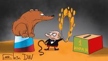 Abstimmung über Verfassungsänderungen in Russland hat begonnen. Die Änderungen werden Wladimir Putin erlauben, noch für zwei Amtszeiten Präsident zu bleiben und geben ihm noch mehr Macht. Jahr/Ort: Moskau, 25.06.2020